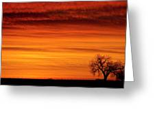 Burning Country Sky Greeting Card