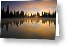 Burning Dawn Greeting Card