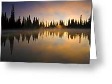 Burning Dawn Greeting Card