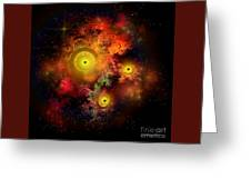 Burning Embers Nebula Greeting Card