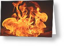 Burning Fire Greeting Card