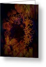 Burning Flower Greeting Card