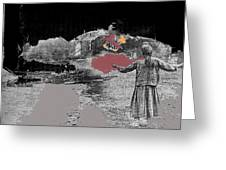 Burning House Destroyed By The Ss Soviet Union Number One 1941 Color Added 2016 Greeting Card