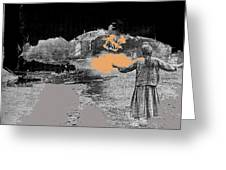 Burning House Destroyed By The Ss Soviet Union Number Two 1941 Color Added 2016 Greeting Card