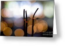 Burning Incense Greeting Card