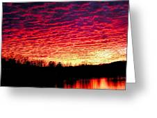 Burning Lake Greeting Card