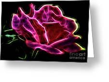Burning Rose Greeting Card