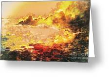 Burning Shore Greeting Card
