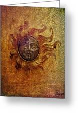 Burning Sun Greeting Card