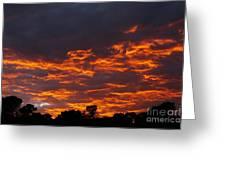 Burning Sunrise Skies Greeting Card