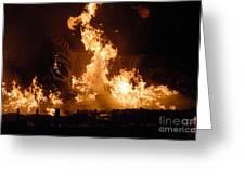Burning Water Greeting Card