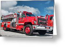 Burnington Iolta Fire Rescue - Tanker Engine 1550, North Carolina Greeting Card