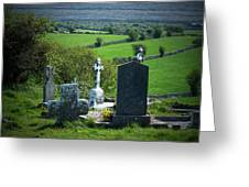 Burren Crosses County Clare Ireland Greeting Card