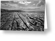 Burren Limestone Landscape In Ireland Greeting Card