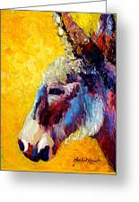 Burro Study II Greeting Card