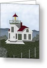 Burrows Island Lighthouse Greeting Card