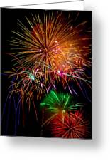 Burst Of Bright Colors Greeting Card