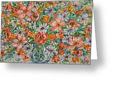 Burst Of Flowers Greeting Card
