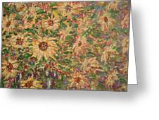 Burst Of Sunflowers. Greeting Card