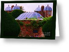 Unique Roofs At Burton Agnes Hall, Yorkshire Greeting Card