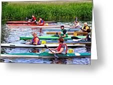 Burton Canoe Race At The Start Greeting Card