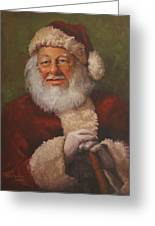Burts Santa Greeting Card