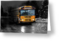 Bus Of Darkness Greeting Card