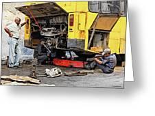 Bus Repairs Greeting Card
