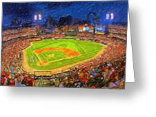 Busch Stadium At Night Rocks Greeting Card