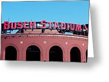 Busch Stadium Ball Park Greeting Card