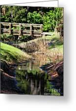 Buschman Park Bridge Greeting Card