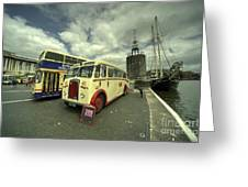 Buses N Boat  Greeting Card