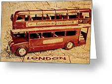 Buses Of Vintage England Greeting Card