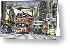 Buses Trams Trolleys Greeting Card