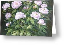 Bush Of Pink Peonies Greeting Card