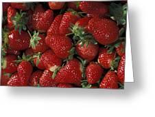 Bushel Of Strawberries Greeting Card