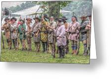 Bushy Run Milita Camp Roll Call Greeting Card by Randy Steele