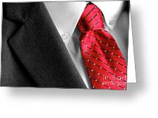 Business Suit White Shirt Red Tie Formal Wear Fashion Greeting Card
