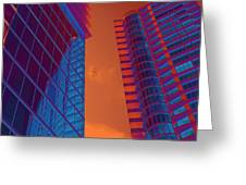Business Travel, Architectural Abstract Greeting Card