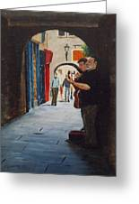 Buskers, Kilkenny Greeting Card