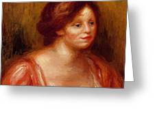 Bust Of A Woman In A Red Blouse Greeting Card