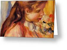 Bust Of A Young Girl Greeting Card