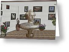 Bust Of The Spirit Of Einstein 1 Greeting Card