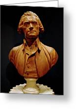 Bust Of Thomas Jefferson  Greeting Card