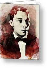 Buster Keaton, Legend Greeting Card
