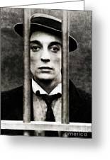 Buster Keaton, Vintage Actor Greeting Card