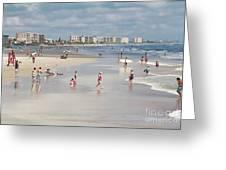 Busy Beach Day Greeting Card