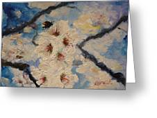 Busy Bumble Bee And Blossom.  Greeting Card
