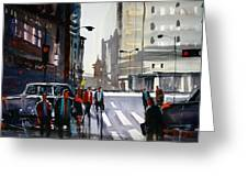 Busy City - Chicago Greeting Card