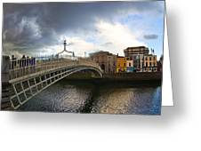 Busy Ha'penny Bridge 4 Greeting Card